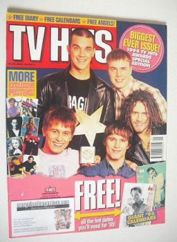 TV Hits magazine - January 1995 - Take That cover