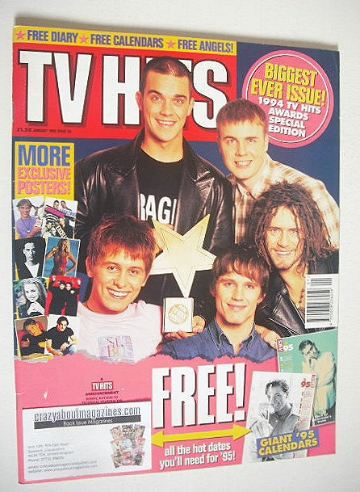<!--1995-01-->TV Hits magazine - January 1995 - Take That cover