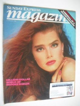 <!--1984-01-22-->Sunday Express magazine - 22 January 1984 - Brooke Shields cover