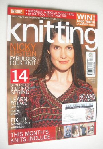 <!--2009-03-->Knitting magazine (March 2009 - Issue 61)