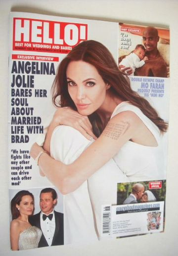 <!--2015-11-16-->Hello! magazine - Angelina Jolie cover (16 November 2015 -