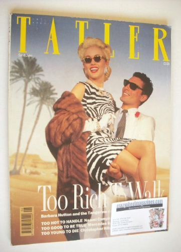 <!--1989-06-->Tatler magazine - June 1989 - Too Rich To Walk cover