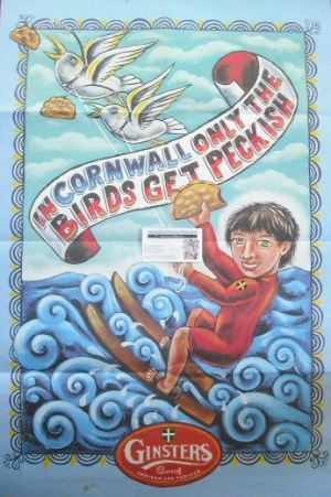 Ginsters Cornish poster