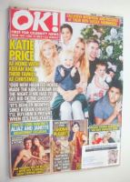 <!--2015-12-15-->OK! magazine - Katie Price and family cover (15 December 2015 - Issue 1011)