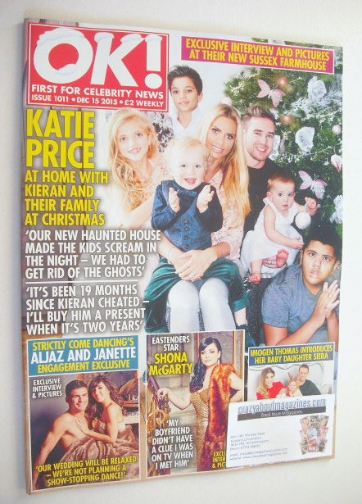 <!--2015-12-15-->OK! magazine - Katie Price and family cover (15 December 2