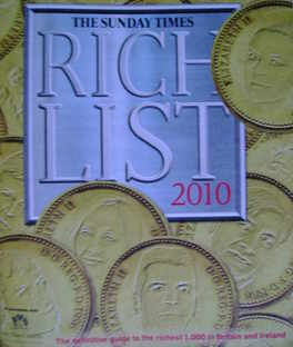 <!--2010-->The Sunday Times Rich List 2010 magazine