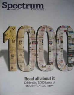 Spectrum magazine - 1000 Issues of Scotland on Sunday cover (28 October 200
