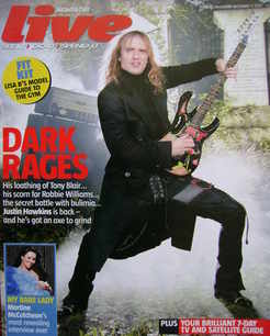 Live magazine - Justin Hawkins cover (11 December 2005)
