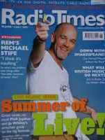 <!--2003-06-28-->Radio Times magazine - Michael Stipe cover (28 June - 4 July 2003)
