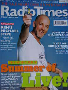 <!--2003-06-28-->Radio Times magazine - Michael Stipe cover (28 June - 4 Ju