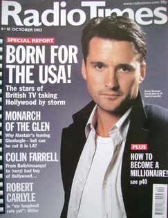 <!--2003-10-04-->Radio Times magazine - Alastair Mackenzie cover (4-10 Octo
