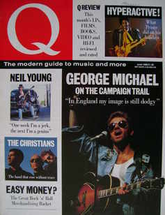 <!--1988-06-->Q magazine - George Michael cover (June 1988 - out of stock)