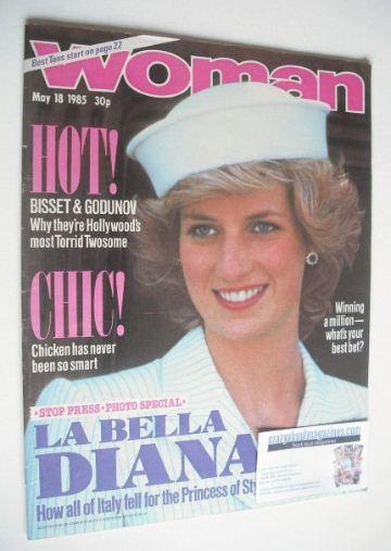 <!--1985-05-18-->Woman magazine - Princess Diana cover (18 May 1985)