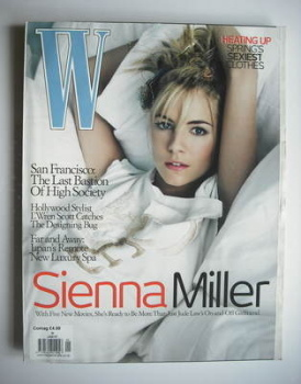 W magazine - January 2007 - Sienna Miller cover