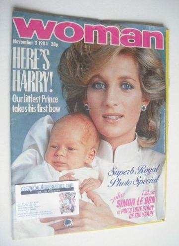 <!--1984-11-03-->Woman magazine - Princess Diana cover (3 November 1984)