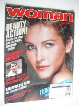 Woman magazine - Fiona Fullerton cover (16 March 1985)