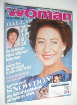Woman magazine - Princess Margaret cover (23 February 1985)