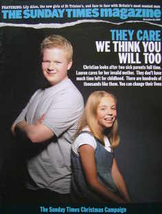 <!--2007-11-25-->The Sunday Times magazine - They Care cover (25 November 2