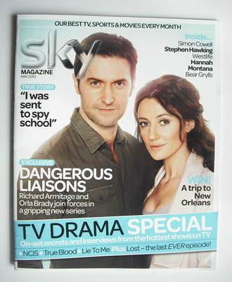 Sky TV magazine - May 2010 - Richard Armitage and Orla Brady cover