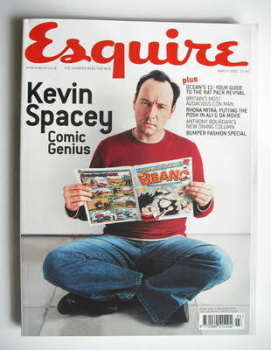 Esquire magazine - Kevin Spacey cover (March 2002)