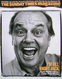 <!--2007-12-09-->The Sunday Times magazine - Jack Nicholson cover (9 Decemb