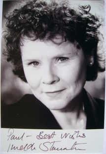 Imelda Staunton autograph