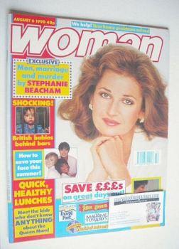 Woman magazine - Stephanie Beacham cover (6 August 1990)