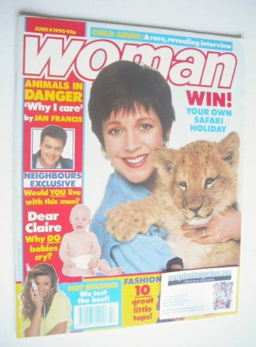 <!--1990-06-04-->Woman magazine - Jan Francis cover (4 June 1990)