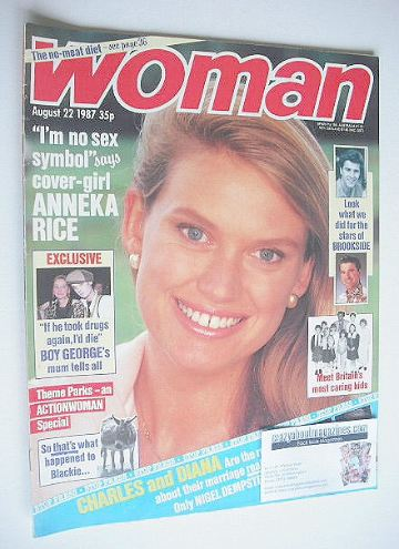 <!--1987-08-22-->Woman magazine - Anneka Rice cover (22 August 1987)