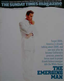 <!--2004-11-14-->The Sunday Times magazine - Arnold Schwarzenegger cover (1