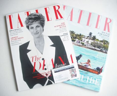 <!--2016-01-->Tatler magazine - January 2016 - Princess Diana cover