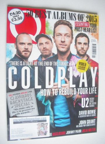 <!--2016-01-->Q magazine - Coldplay cover (January 2016)