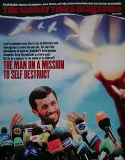 <!--2006-06-18-->The Sunday Times magazine - President Mahmoud Ahmadinejad