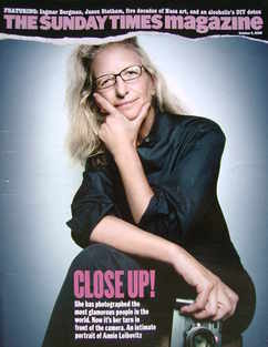 <!--2008-10-05-->The Sunday Times magazine - Annie Leibovitz cover (5 Octob
