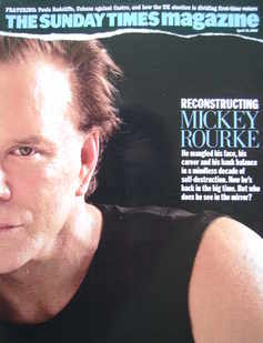 <!--2005-04-10-->The Sunday Times magazine - Mickey Rourke cover (10 April