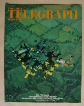 The Daily Telegraph magazine - Sky Diving cover (7 January 1972)