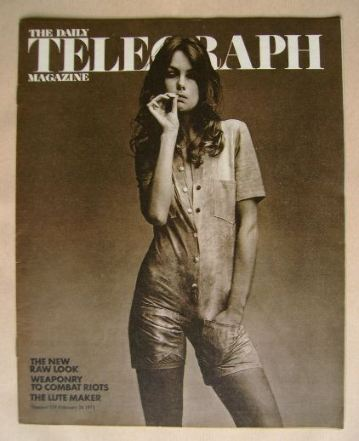 <!--1971-02-26-->The Daily Telegraph magazine - Jean Shrimpton cover (26 Fe
