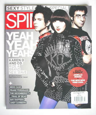 Spin magazine - Yeah Yeah Yeahs cover (March 2009)