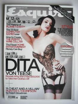 Esquire magazine - Dita Von Teese cover (November 2006)
