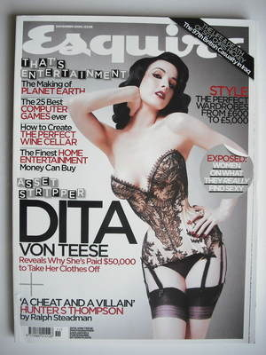 <!--2006-11-->Esquire magazine - Dita Von Teese cover (November 2006)