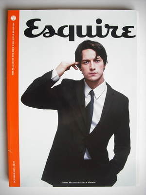 <!--2007-10-->Esquire magazine - James McAvoy cover (October 2007 - Subscri