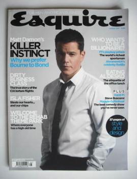 Esquire magazine - Matt Damon cover (August 2007)