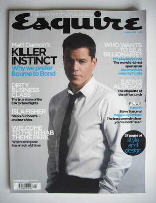 <!--2007-08-->Esquire magazine - Matt Damon cover (August 2007)
