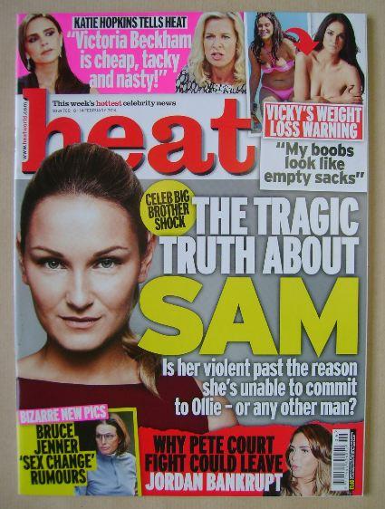 <!--2014-02-08-->Heat magazine - Sam Faiers cover (8-14 February 2014)