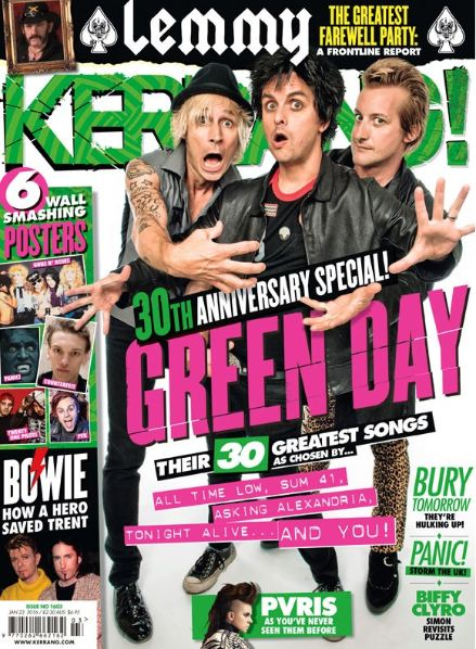 <!--2016-01-23-->Kerrang magazine - Green Day cover (23 January 2016 - Issu