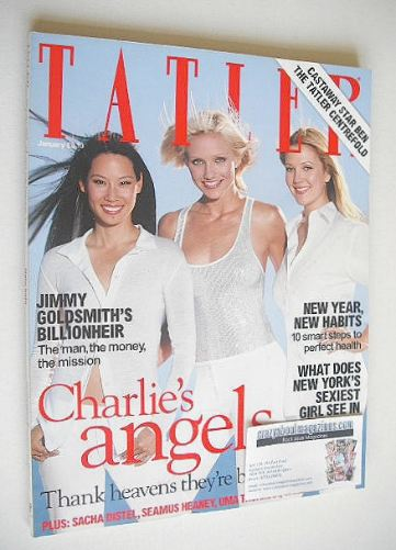 <!--2001-01-->Tatler magazine - January 2001 - Charlie's Angels cover