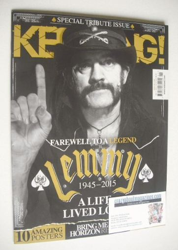 <!--2016-01-09-->Kerrang magazine - Lemmy cover (9 January 2016 - Issue 160
