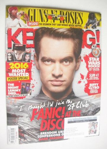 <!--2016-01-16-->Kerrang magazine - Brendon Urie cover (16 January 2016 - I