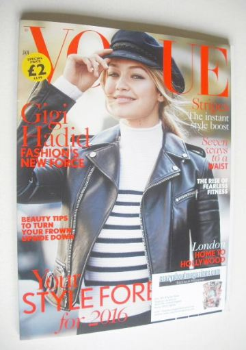 <!--2016-01-->British Vogue magazine - January 2016 - Gigi Hadid cover