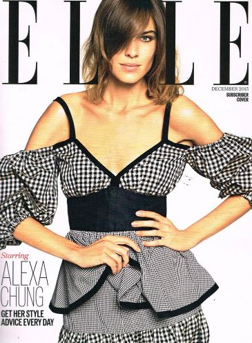 <!--2015-12-->British Elle magazine - December 2015 - Alexa Chung cover (Su